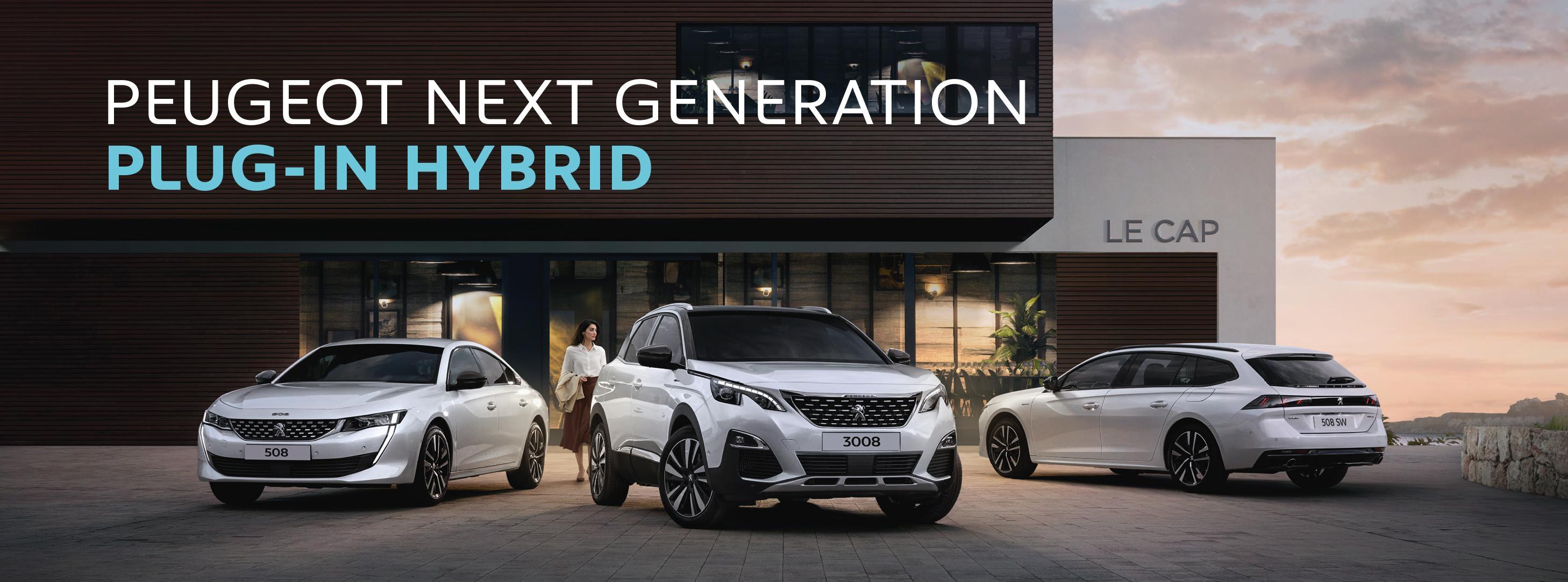 Die Plug-In Hybrid Flotte von Peugeot -